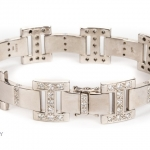 18ct gold diamond bracelet image 2