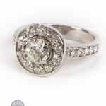 18ct gold diamond fancy ring image 2