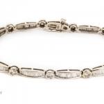 Diamond bracelet baguette-cut image 3
