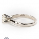Platinum diamond single-stone ring image 3