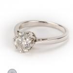 18ct gold diamond single-stone ring image 2