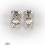 Pair of 18ct gold diamond earrings image 2