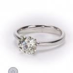 Diamond single-stone ring image 2