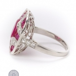 Ruby and diamond ring image 3