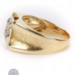14ct gold diamond single-stone signet ring image 3