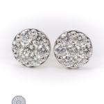 Pair of 18kt gold diamond earrings image 3