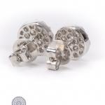 Pair of 18kt gold diamond earrings image 2