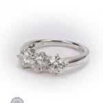 18ct gold diamond three-stone ring image 2