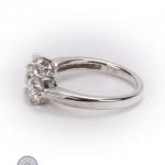18ct gold diamond three-stone ring image 3