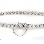 Diamond tennis bracelet image 3