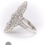 18ct gold diamond fancy ring image 3