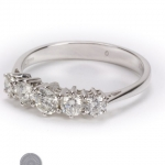 18ct gold diamond five stone ring image 2