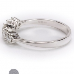 18ct gold diamond five stone ring image 3