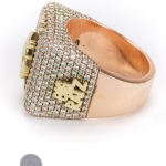 Rose gold diamond ring image 3