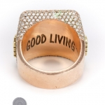 Rose gold diamond ring image 4