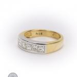 18ct gold diamond five-stone ring image 2