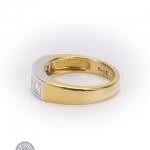 18ct gold diamond five-stone ring image 3