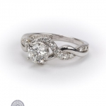 18ct gold diamond 'forever' ring. image 2
